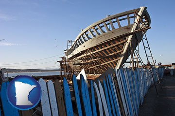fishing boat construction - with Minnesota icon