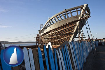 fishing boat construction - with New Hampshire icon
