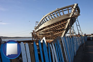 fishing boat construction - with New Mexico icon