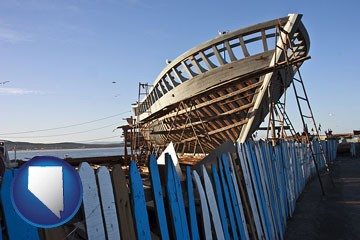 fishing boat construction - with Nevada icon